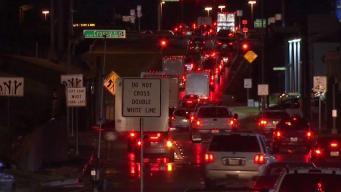 Reparación de pavimento sobre I-35 causa caos entre conductores