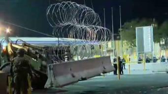 Increíble: roban el alambre de púas del muro fronterizo