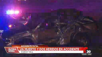 Un muerto y dos heridos en accidente en Fort Worth