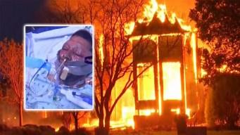 Explosión e incendio destruye una casa en Benbrook