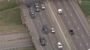 Protesta de camioneros en Dallas