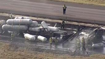 Muertos y heridos en Denton por accidente sobre I-35