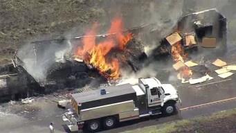 Reabren autopista 35 en Denton tras accidente