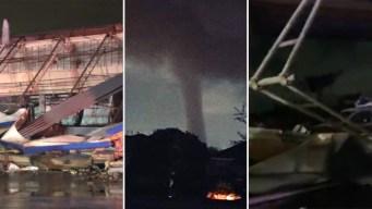 Tornado, vientos y granizo dejan destrozos en el Metroplex