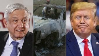 AMLO: no habrá confrontación con Trump por cárteles