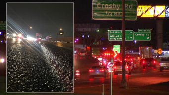 Grieta en la carretera 35 en Carrollton provocó caos vial