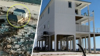 La casa fortificada que aguantó la fuerza del huracán Michael