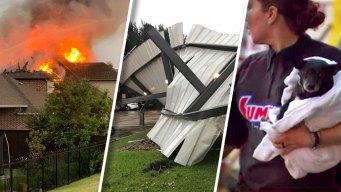 Tormenta que pasó por el Metroplex dejó incendios y daños