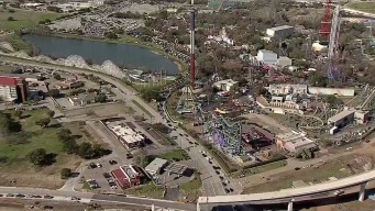 Caos vial alrededor de Six Flags en Arlington