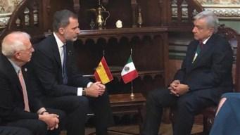 Felipe VI, primer líder que recibe el presidente López Obrador