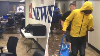Estación de noticias se inunda tras paso del sistema Imelda