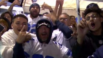 Fans celebran a los Dallas Cowboys