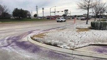 ¿Nieve sorprende a residentes en Irving?