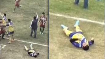 Futbolista muere tras golpes en plena cancha