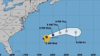 Jerry se debilita mientras enfila hacia Bermudas