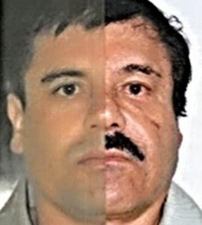 Otro fotomontaje comparativo entregado por la Procuraduría de México