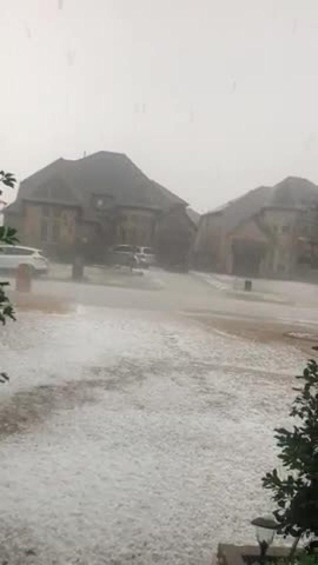 Hail in Allen