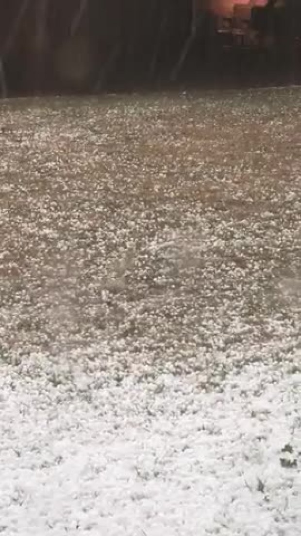Hail in Allen- Fairview
