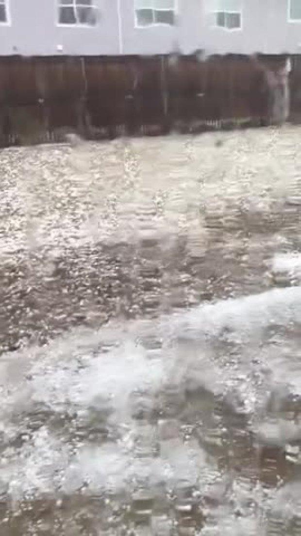 Hail Storm near McKinney