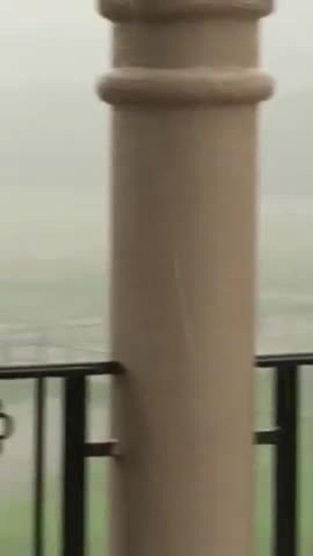 Ranch property gets massive rain under tornado warning