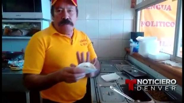 [TLMD - Denver] Taquero le dedica un taco al magnate Donald Trump