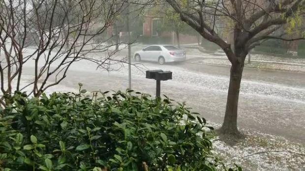 Spring Hail in McKinney TX