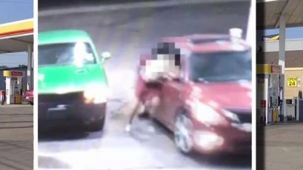 [TLMD - Dallas] Arrastran a mujer en una gasolinera de Dallas