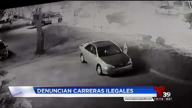 Carreras clandestinas de autos en Dallas