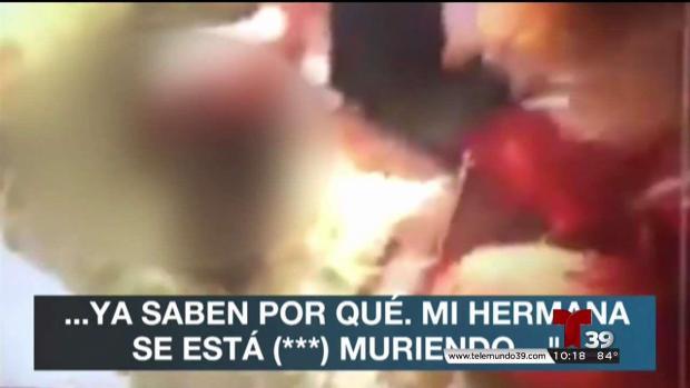 Mujer transmite en vivo muerte de su hermana