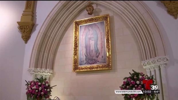 [TLMD - Dallas] Llegan a catedral en Dallas para venerar a Virgen de Guadalupe