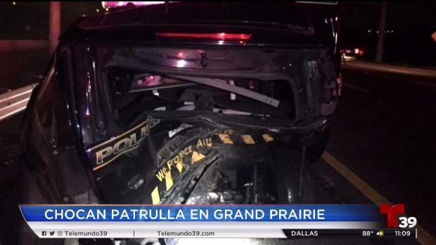 [TLMD - Dallas] Captado en video: Chocan patrulla en Grand Prairie
