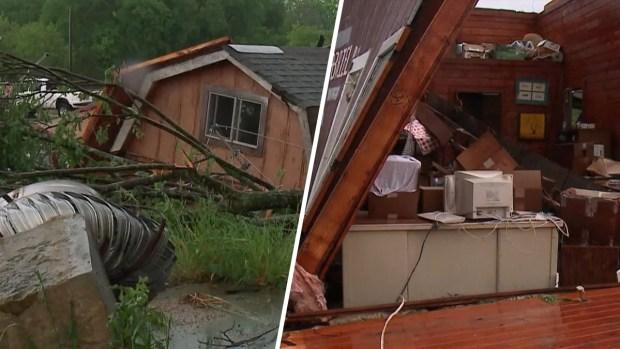 [TLMD - NATL] Imágenes de los daños dejados por tornado en el centro de Texas