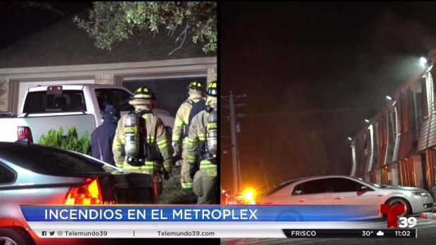 [TLMD - Dallas] Cuatro incendios en una noche