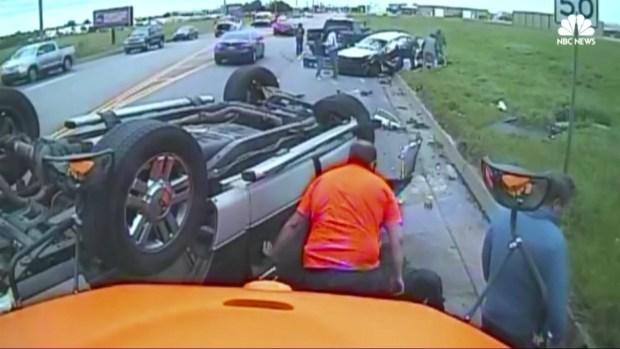 [TLMD - NATL] Impactante choque captado en cámara en Oklahoma
