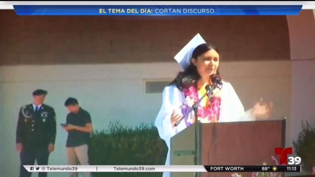 [TLMD - Dallas] Tema del Día: Le cortan el discurso a la mejor alumna