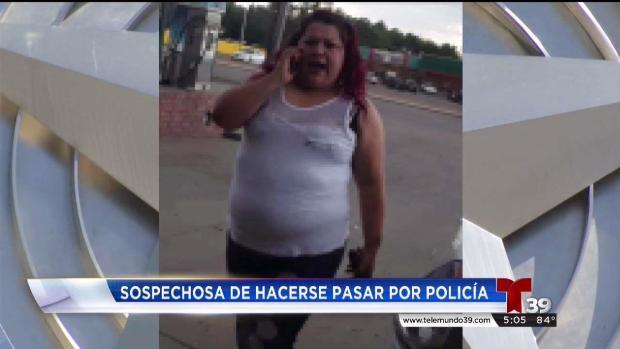 Mujer se hace pasar por policía de Dallas
