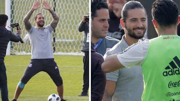 """Maluma lleva su buena vibra al primer entrenamiento del """"Tri"""" en Moscú"""
