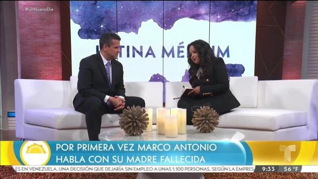 Marco Antonio Regil contacta a su madre