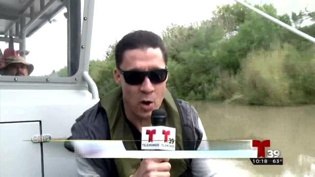 Patrullaje acuático en la frontera texana