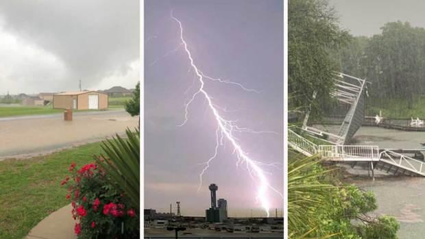 Televidentes comparten fotos tras vigilancia de tornados y e inundaciones en el norte de Texas