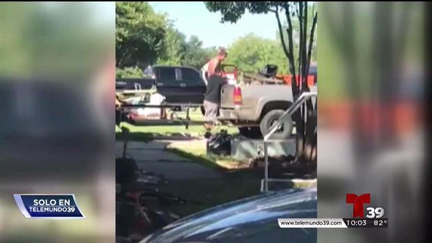 Capta en video cuando le roban a su vecino en irving