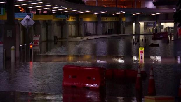 Inundaciones en el aeropuerto Love Field