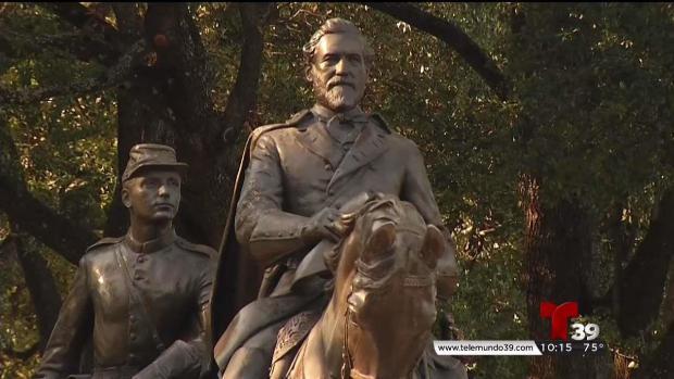 Retiro de estatua genera leyenda en Dallas