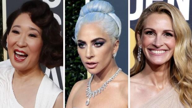 Divas de Hollywood deslumbran en la alfombra roja de los Globos de Oro