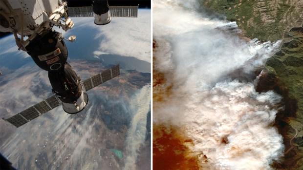 Imágenes de incendios forestales capturadas desde el espacio
