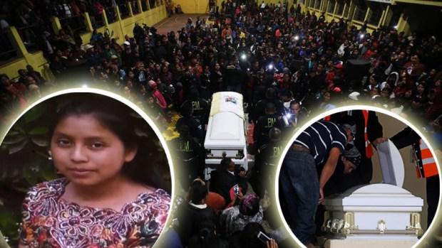 Amor y pobreza: en masa reciben restos de Claudia, asesinada por agente fronterizo