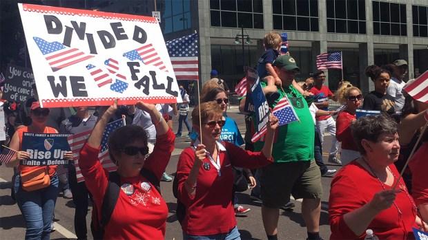 Mega Marcha en Dallas contra las medidas de Trump