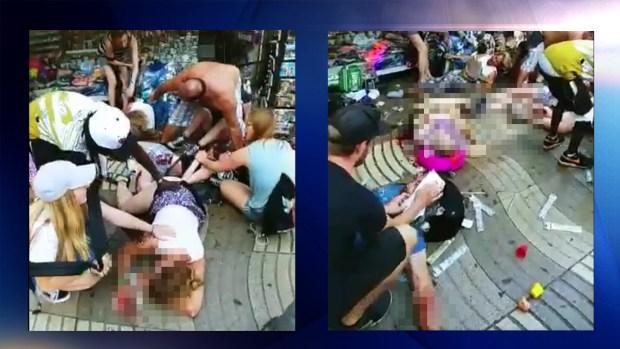 Dramático: instantes posteriores al ataque en Barcelona