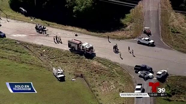 Identifican a víctimas del accidente en Condado Collin