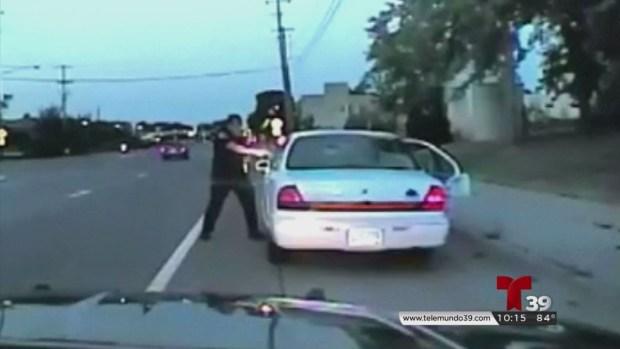 Revelan video cuando un policía mata a un conductor